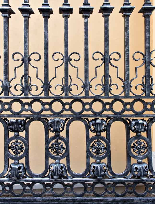 Detail of a old iron gate
